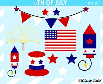 4th of July clipart commercial use