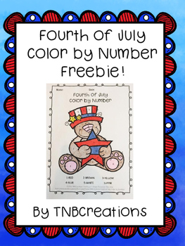 Fourth of July Color by Number FREE