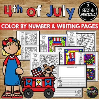 Fourth of July Coloring Sheets and Writing Pages, 4th of July