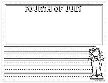 Fourth of July Coloring Sheets and Writing Pages, Patriotic Headbands