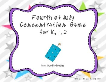 Fourth of July Concentration Game