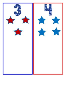 Fourth of July Counting Cards