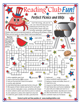 Fourth of July (Picnics & Barbecues) Crossword Puzzle