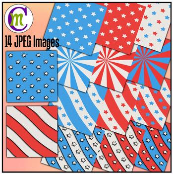 Fourth of July Digital Scrapbook Paper