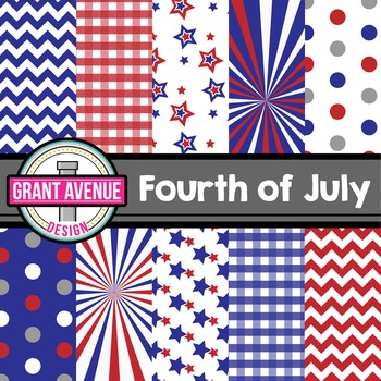 Fourth of July Digital Papers