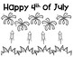 Fourth of July Firework Show Glyph