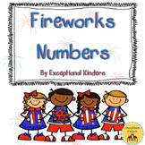 Fourth of July Fireworks Counting Mats