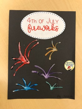 Fourth of July Fireworks Craftivity FREEBIE