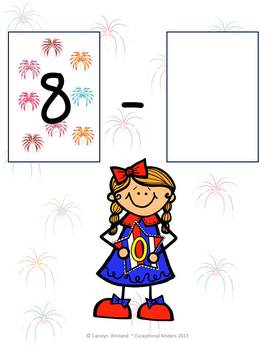 Fourth of July Fireworks Subtraction Mats