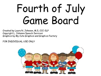 Fourth of July Game Board Freebie