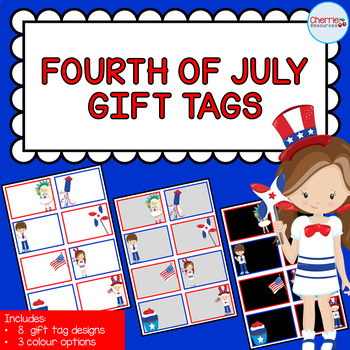 Fourth of July Gift Tags EDITABLE