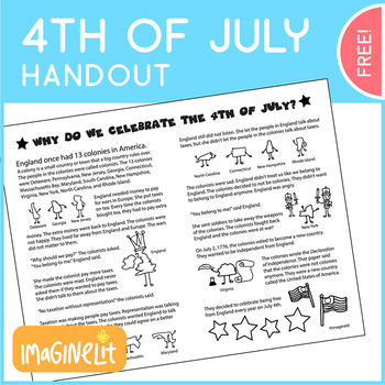Fourth of July Handout
