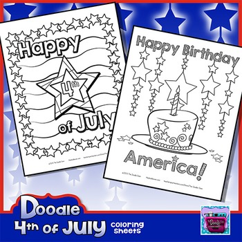 4th of July & Independence Day Coloring Sheets