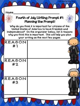 Fourth of July Writing/ July 4th Writing