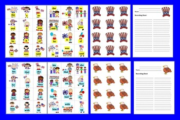 Fourth of July Activities: Sight Words Centers - Set 1 of 2 - Summer School