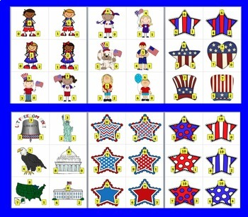 Fourth of July Math Centers:  102 Triangle Fact Families - Summer School