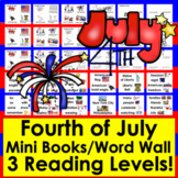 Fourth of July Readers - 2 Levels - Summer School