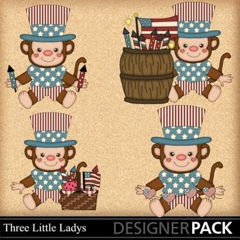 Fourth of July Monkeys