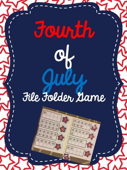 Fourth of July Number File Folder Game