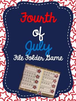 Fourth of July Number File Folder Game