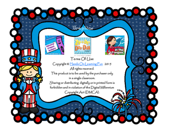 Fourth of July Patriotic USA Bingo Printable Game Activity Letter Recognition