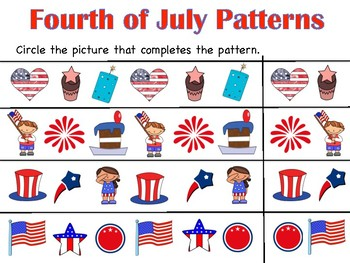 Fourth of July Pattern Pages!