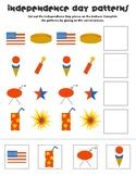 Fourth of July Pattern Worksheet