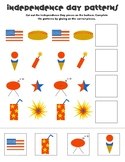 Fourth of July Pattern Worksheet