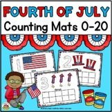 Fourth of July Counting Mats 0-20
