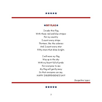 Fourth of July Poem - FREEBIE