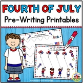 Fourth of July Pre-Writing Printables