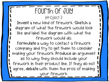 Fourth of July Project-Based Learning & Enrichment for Literacy, Math & STEM