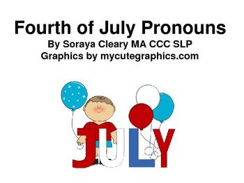 Fourth of July Pronouns