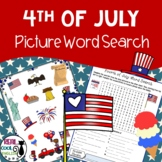 Fourth of July Puzzle | Picture Word Search Puzzle