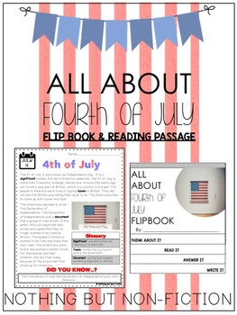 Fourth of July Reading Passage and Flipbook