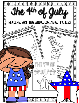 Fourth of July Reading, Writing, and Coloring Activities
