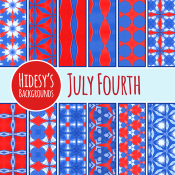 Fourth of July - Red, White and Blue Backgrounds / Digital Papers Clip Art Set