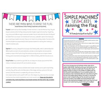 4th of July Simple Machines Activity
