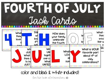 Fourth of July Task Cards
