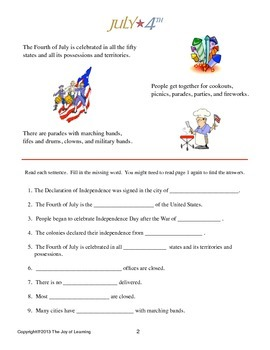 Fourth of July Thematic Unit