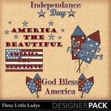 Fourth of July Word Art