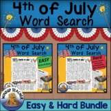 Fourth of July Word Search BUNDLE