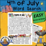 Fourth of July Word Search EASY Puzzle