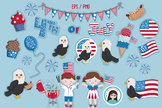 Fourth of July cliparts