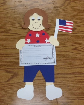 Fourth of July craft and writing (4th of July)