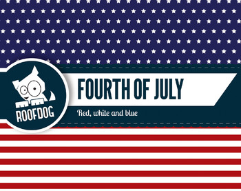 Fourth of July digital papers assorted stars and stripes patterns
