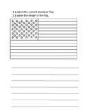 Fourth of July or U.S. History Color/Writing Worksheet