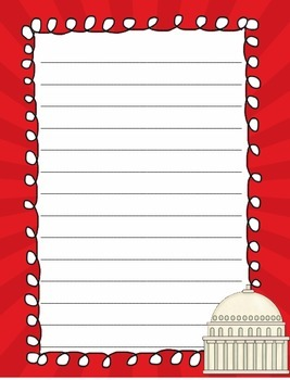 Fourth of July - patriotic theme - Writing papers