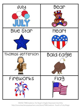 Fourth of July BINGO