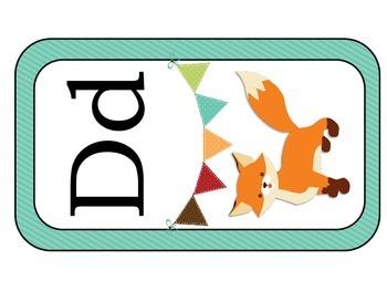 Fox ABCs: Alphabet Header Cards